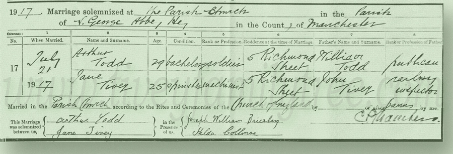 Jane-Tivey-and-Arthur-Todd-Marriage-Certificate