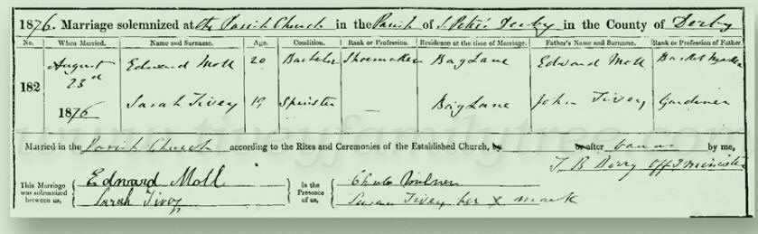 Samuel-Tivey-Mary-Cook-Marriage-Certificate