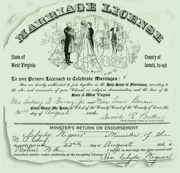 Sidney-Frederick-Tivey-and-Irene-Boram-Marriage-License
