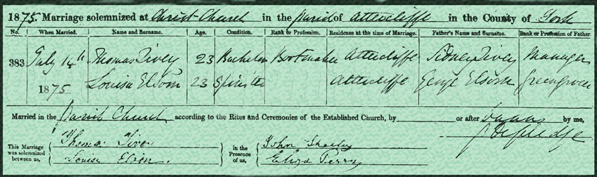 Thomas-Tivey-and-Louisa-Elson-Marriage-Certificate