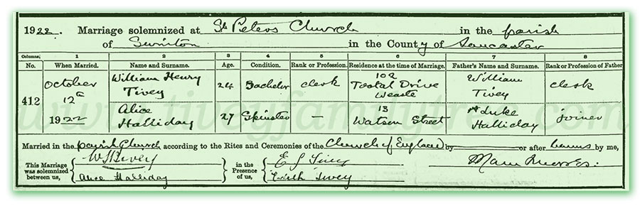 William-Henry-Tivey-and-Alice-Halliday-Marriage-Certificate