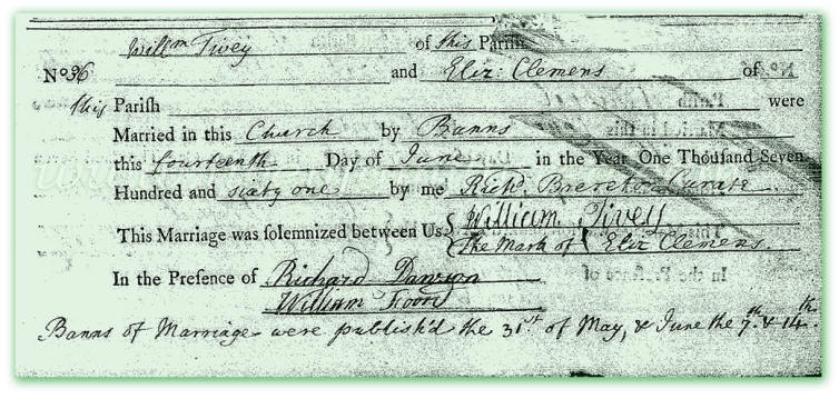 William-Tivey-and-Elizabeth-Clemens-Marriage-Register