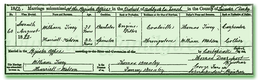 William-Tivey-and-Harriett-Watson-Marriage-Certificate